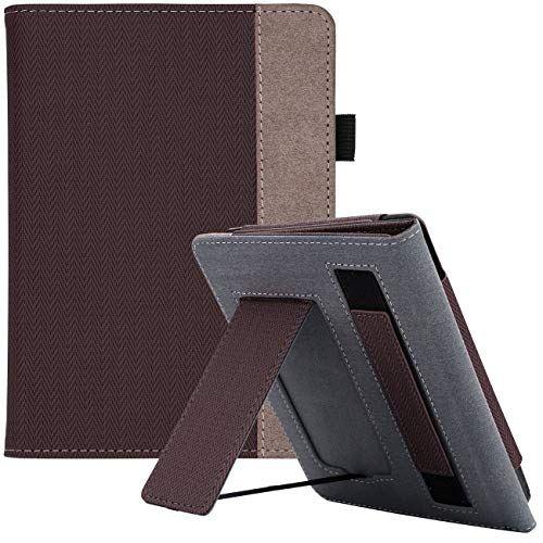 WALNEW AMAZON Kindle Paperwhite第十世代カバー ケース 2018 Kindle Paperwhite Newモデル(第10世代)に適応 スタンド機能 ベルト付き マグネット機能搭載カバー コーヒー