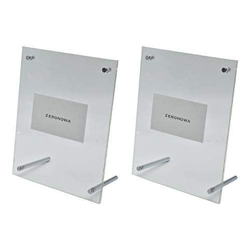 ZERONOWA メーカー直売 テレビで話題 トレーディングカード ディスプレイ スタンド クリアフレーム 2個セット 小