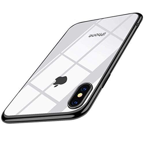 iPhone XS 贈り物 MAX ケース アウトレット クリア 耐衝撃 TPU メッキ加工 透明 ソフトシェル 指紋防止 Qi充電対応 おしゃれ かわいい ブラック 人気 薄型 シリコン Max 最軽量 防塵 耐衝撃カバー アイフォン 一体型 スリム 高級感 iPhoneXs