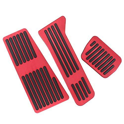 /CX-8/デミオなどに適用 アクセサリーカバー Deurreli 3pセット 穴あけなし アルミペダル マツダCX-3/CX-5 赤