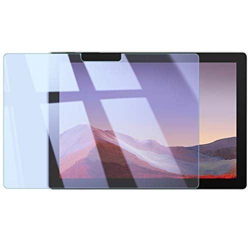 マイクロソフト Surface Pro 7 ガラスフィルム 12.3型 90% ブルーライトカット フィルム 眼精疲労軽減 保護フィルム 強化ガラス 全面保護 9H サーフェス 本店 激安通販販売 0.3mm Blue 6 SurfacePro7 指紋防止 気泡防止 2.5D 4 WANLOK プロ7