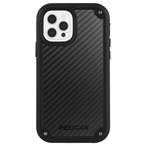 【Pelican by Case-Mate】 抗菌・MIL-STD-810G ミリタリーグレード 6.4m 落下耐衝撃ケース ホルスタースタンド付属 ペリカン Shield - Black Kevlar/w Micropel for iPhone 12 / iPhone 12 Pro PP043570