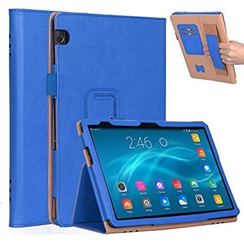 Vikisda Huawei MediaPad 高品質新品 お歳暮 T5 10用 ケース 手帳型 カバー 高級感PUレザー スタンド機能付き 傷つけ防止 10 薄型 超軽量 ブルー 耐衝撃 10.1インチ