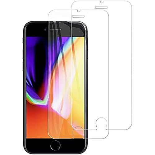 卸売り 2枚入り iPhone SE 第2世代 ガラスフィルム iPhoneSE2 iPhone8 フィルム iPhone7 6 6s 保護 7 初売り クリア ガラス SE2 約3倍の強度 ... 気泡防止 強化 硬度9H 簡単貼り付け 8 日本旭硝子製