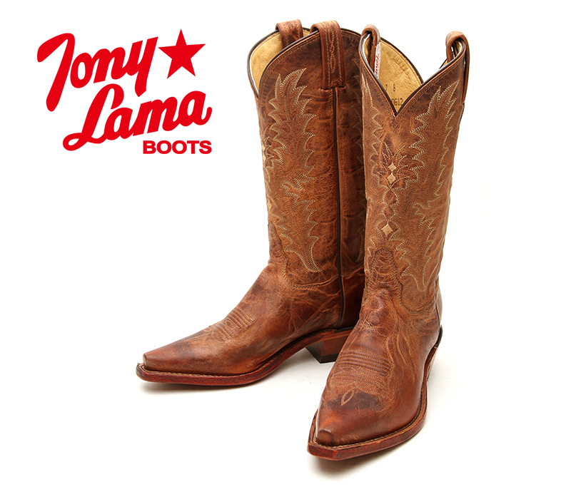 359346894a3 [TONY LAMA, Tony Lama 1796L Tan Saigets Worn Goat Tan and Brown Womens  Leather Western boots knee high boots