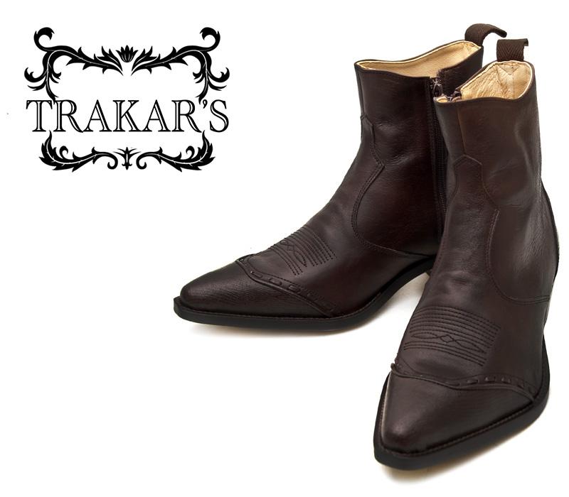 [TRAKAR'S] トラッカーズ 14305 Brown-Liz×Brown ブラウン メンズ レディース 本革 ウエスタンブーツ ショートブーツ