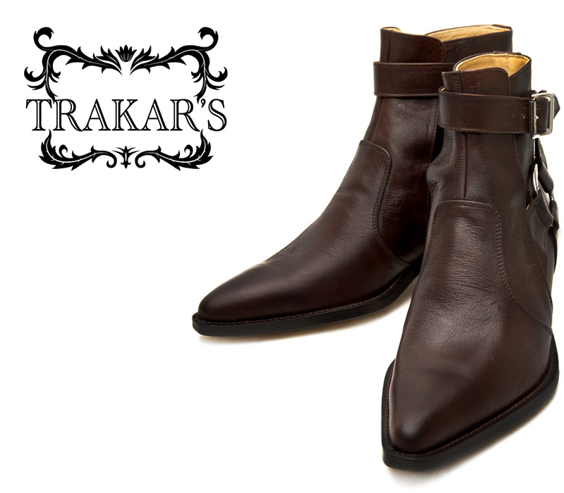 [TRAKAR'S] トラッカーズ 14310 Brown×Brown ブラウン メンズ 本革 ウエスタンブーツ ショートブーツ ジョッパー