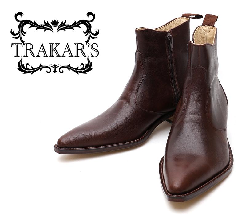 [TRAKAR'S] トラッカーズ 14302 Brown ブラウン メンズ レディース 本革 ウエスタンブーツ ショートブーツ