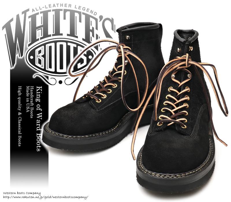 [WHITE'S BOOTS] ホワイツ ブーツ 350NW6-LTT Northwest ノースウエスト Smoke Jumper スモークジャンパー Black Rough Out ブラック・ラフアウト