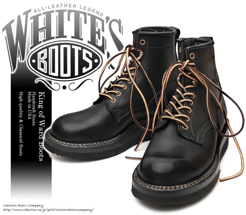 [WHITE'S BOOTS] ホワイツ ブーツ 350NW6-PT Northwest ノースウエスト Smoke Jumper スモークジャンパー Black Oil ブラック