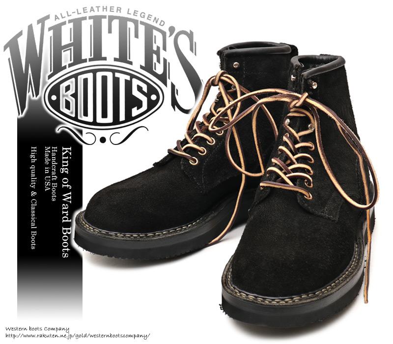 [WHITE'S BOOTS] ホワイツ ブーツ 350NW6-PT Northwest ノースウエスト Smoke Jumper スモークジャンパー Black Rough Out ブラック・ラフアウト