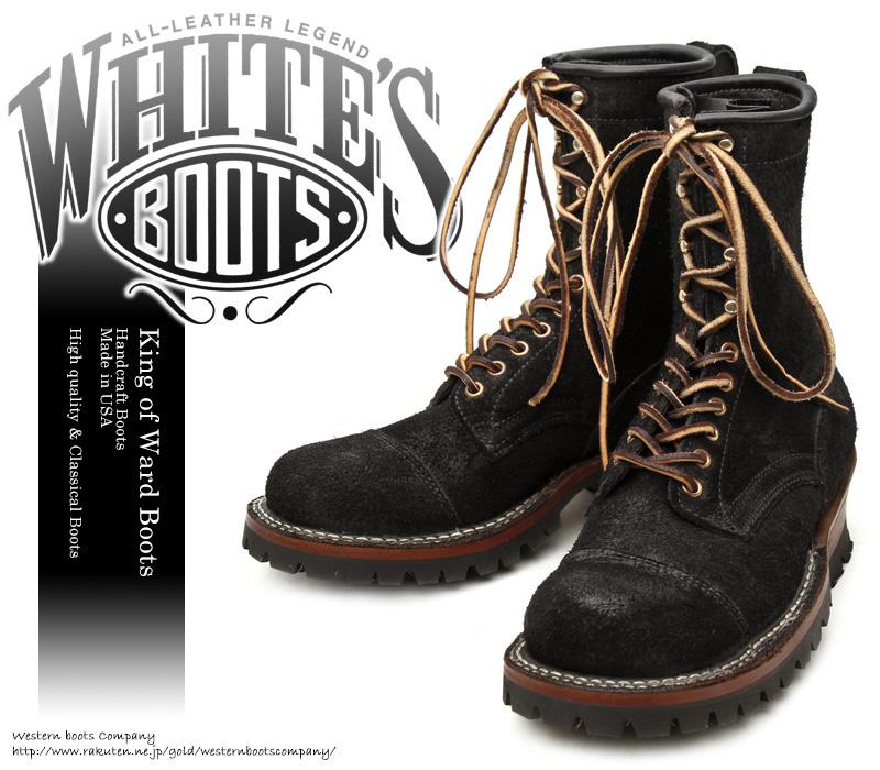[WHITE'S BOOTS] ホワイツ ブーツ 375V8-PT Smoke Jumper スモークジャンパー Black Rough Out ブラック・ラフアウト