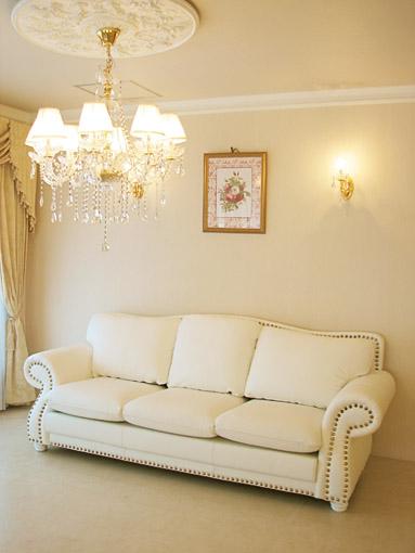 輸入家具■プリンセス家具■エドワード■本革ソファ3P■ホワイトレザー