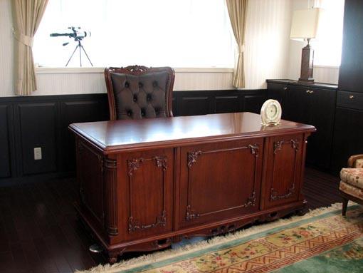 輸入家具 オーダー家具 プリンセス家具 デスク ブラウン クラシックスタイル W175cm