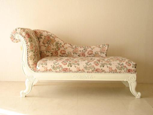 輸入家具■オーダー家具■プリンセス家具■カウチソファ■バラの令嬢ソファ(ホワイト×薔薇)