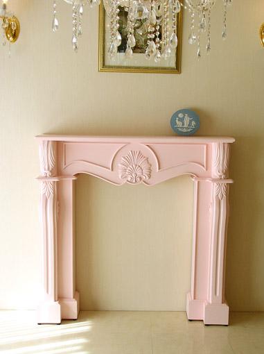 輸入家具 オーダー家具 プリンセス家具 マントルピース シェル W120 バービーピンク色