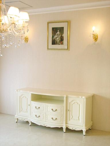 輸入家具 オーダー家具 プリンセス家具 ビバリーヒルズ サイドボード160 リボンの彫刻