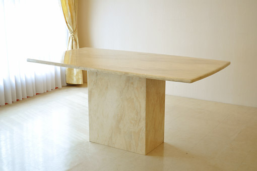 Imported Furniture □ Princess Furniture □ Marble □ Dining Table 160 □ One  Leg