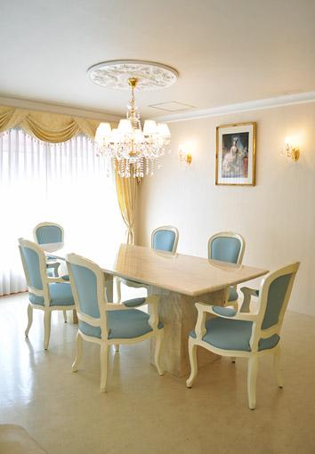 輸入家具 プリンセス家具 大理石 ダイニングテーブル240 二本脚