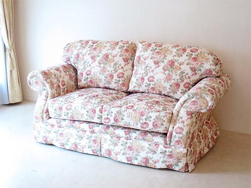 輸入家具 オーダー家具 プリンセス家具 フィガロ 2Pソファ 薔薇柄の張地