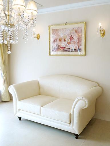 輸入家具 オーダー家具 プリンセス家具 ソファ フェアリー 2シーター フェイクレザーの張地