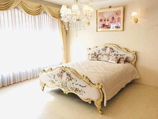 輸入家具 オーダー家具 プリンシパルベッド クィーンサイズ シャインゴールド色