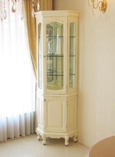輸入家具■オーダー家具■プリンセス家具■ラ・シェル■コーナーショーケース■ホワイト色