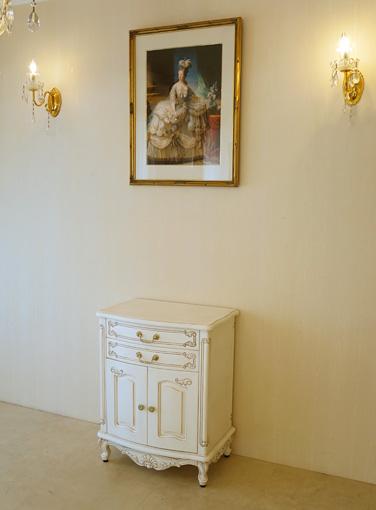 輸入家具■オーダー家具■プリンセス家具■電話台■高さ76cm■マダム・ココ色