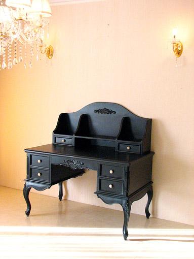 輸入家具■オーダー家具■プリンセス家具■プリマヴェーラ■学習机■薔薇の彫刻■マットブラック色