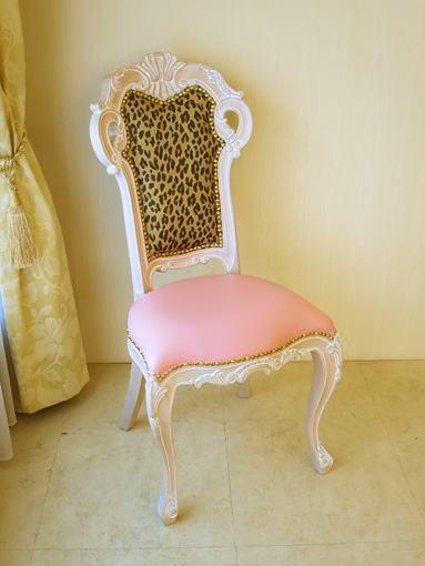 Imported Furniture □ Order Furniture □ Princess Furniture □ Beverly Hills □  Dining Chairs □ Small □ Pin Baju Color □ Seat; Pink Faux Leather □ Back; ...