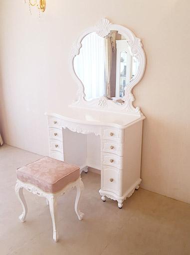 激安の 輸入家具 Rの彫刻 オーダー家具 プリンセス家具 オーダー家具 ビバリーヒルズドレッサー スーパーホワイト色 一面鏡 一面鏡 Rの彫刻 引き出し9杯 アンピンクの張地, ショップUQ:9a77aa7e --- cranescompare.com
