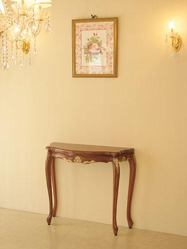 輸入家具 オーダー家具 プリンセス家具 ラ・シェル コンソール W90(天板サイズ) マイエル&ゴールド色