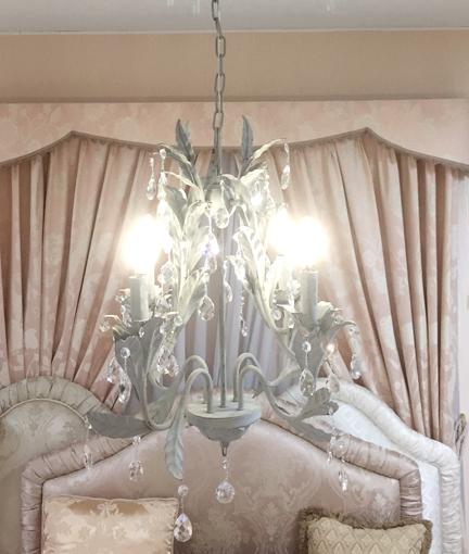 輸入家具 フレンチシック シャンデリア ローラ 4灯
