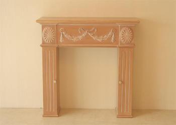 輸入家具 オーダー家具 プリンセス家具 マントルピース リボン W100×D30 ピンクベージュ色