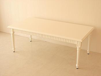 輸入家具 オーダー家具 プリンセス家具 マダム・ココ センターテーブル 引出し付 ホワイト色