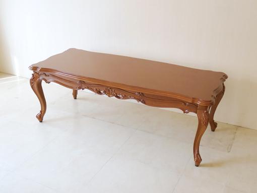 輸入家具 オーダー家具 プリンセス家具 ビバリーヒルズ センターテーブル 引出し付き 130×56cm マイエル色