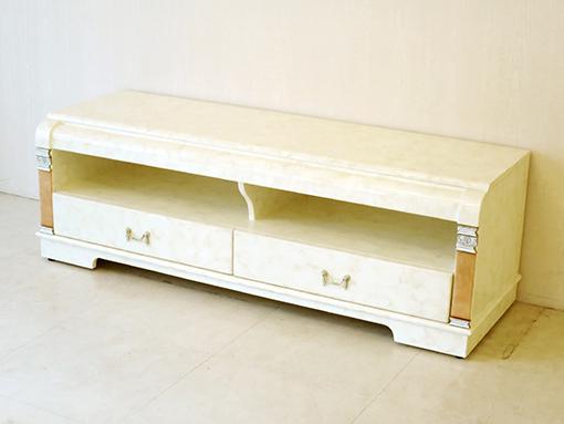 輸入家具 オーダー家具 プリンセス家具 アフロディーテ TVボード W140 マーブルクリーム色