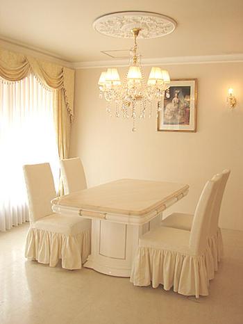 輸入家具 オーダー家具 プリンセス家具 アフロディーテ ダイニングテーブル 天然大理石 ロッソポルトギャレ色