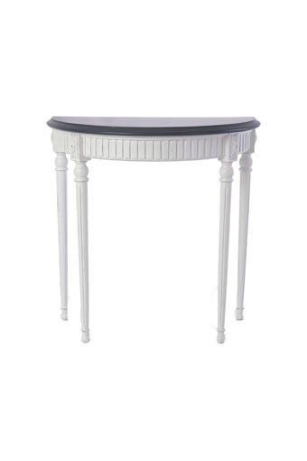輸入家具 オーダー家具 シャビーシック ブランデコール コンソール クララ フレンチホワイト色 ダークグレートップ