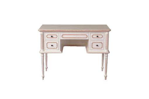 輸入家具 オーダー家具 シャビーシック ブランデコール デスク キャロル アンティークホワイトラスティック色