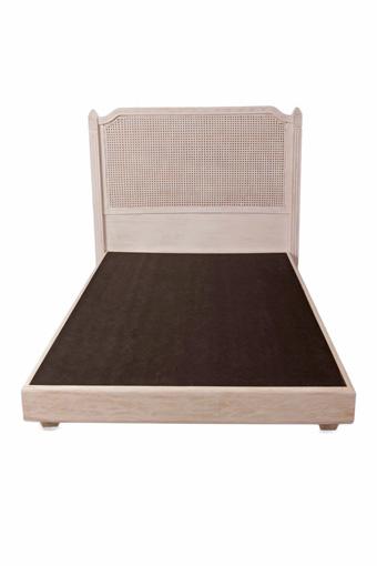 輸入家具 オーダー家具 シャビーシック ブランデコール リル セミダブルベッド ホワイトウォッシュラスティック色