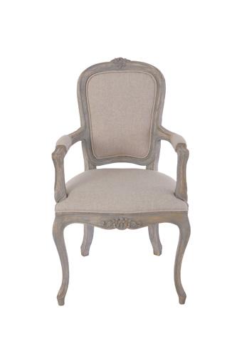輸入家具 オーダー家具 シャビーシック ブランデコール サラ アームチェア グレーラスティック色