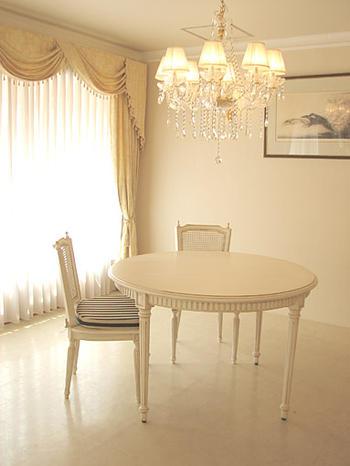 輸入家具 プリンセス家具 マダム・ココ ラウンドテーブル120