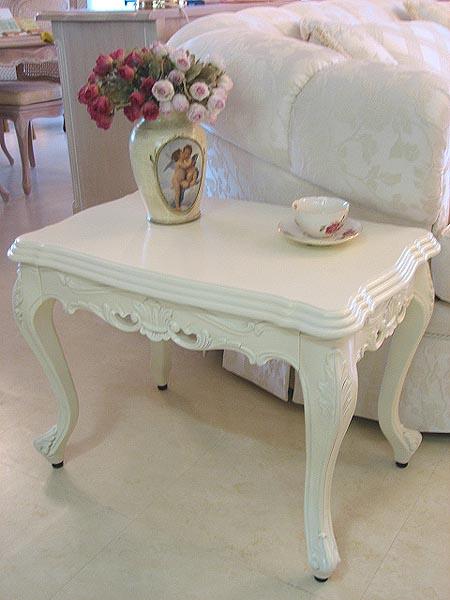 輸入家具■プリンセス家具■猫脚■ビバリーヒルズ■白家具■サイドテーブル