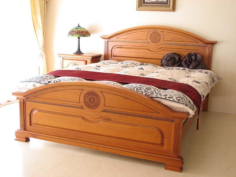 輸入家具 アウトレット モナコ 彫刻の美 べッド クィーンサイズ バロックスタイル