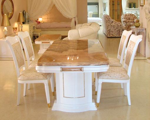 輸入家具 プリンセス家具 ゴージャス アフロディーテ ダイニングテーブル160 オニキス