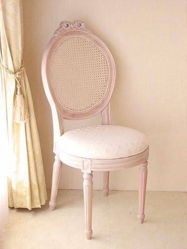 Order Furniture □ Princess Furniture □ Louis XVI Style □ Dining Chairs □  Rattan U0026 Fabric □ Pink Beige