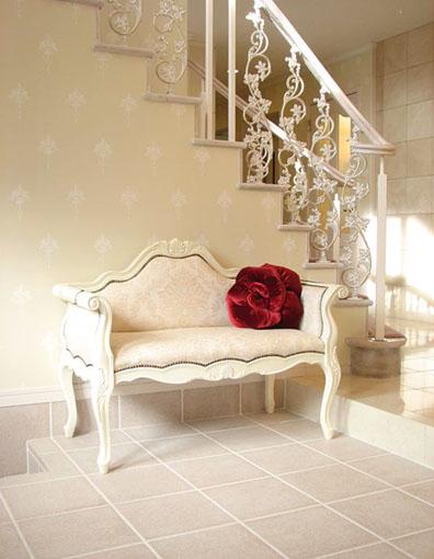 輸入家具■オーダー家具■プリンセス家具■カウチソファ■ホワイト■シェルの彫刻