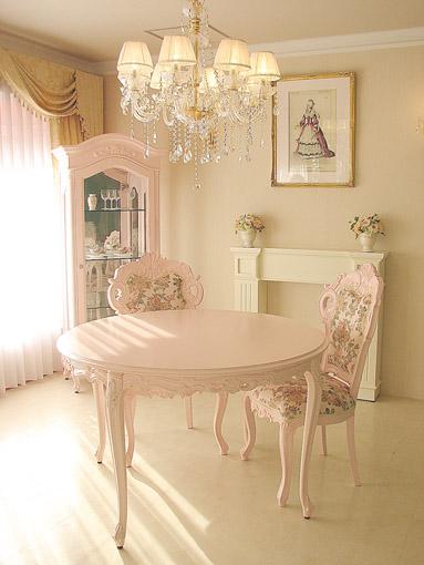 輸入家具■オーダー家具■プリンセス家具■ビバリーヒルズ■ラウンドテーブル120■バービーピンク色
