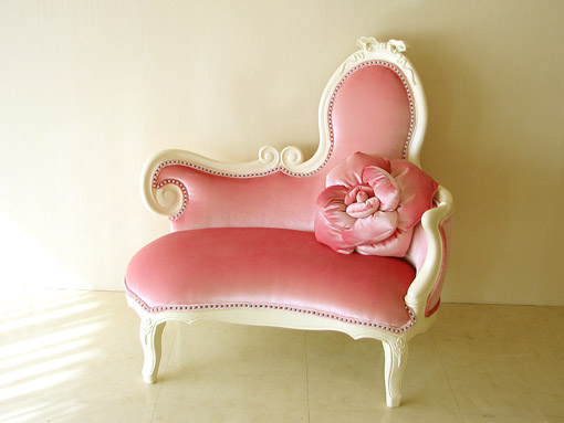 Attrayant Imported Furniture □ Princess Furniture □ Audrey □ Actress Ribbon Sofa □  Velvet □ Baby Pink Upholstery